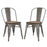 Modway Promenade Dining Side Chair Set of 2 in GunMetal