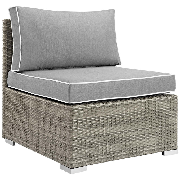 Modway Repose Outdoor Patio Armless Chair in Light Gray Gray