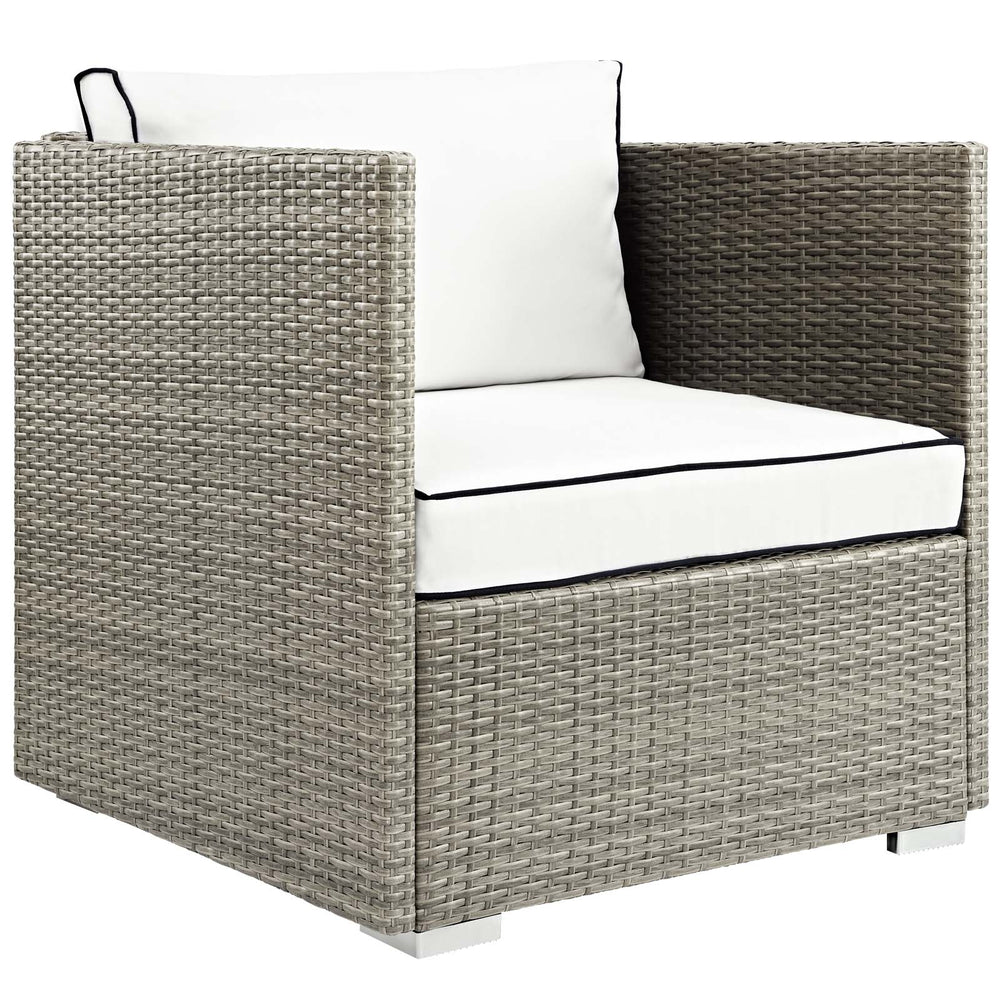 Modway Repose Outdoor Patio Armchair in Light Gray White