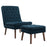 Modway Modify Upholstered Lounge Chair and Ottoman in Azure