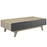 "Modway Origin 47"" Coffee Table in Natural Gray"