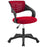 Modway Thrive Mesh Office Chair in Red