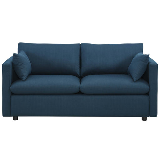 Activate Upholstered Fabric Sofa in Azure by Modway