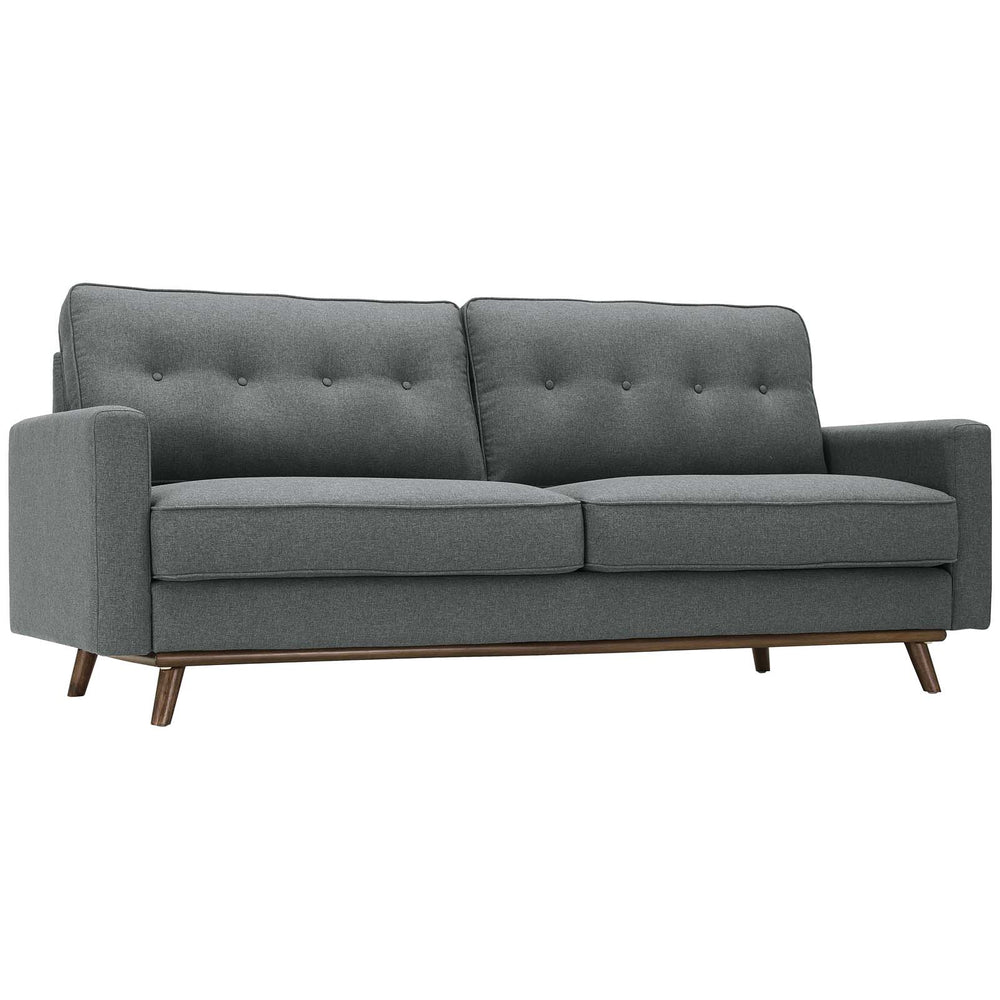 Modway Prompt Upholstered Fabric Sofa in Gray