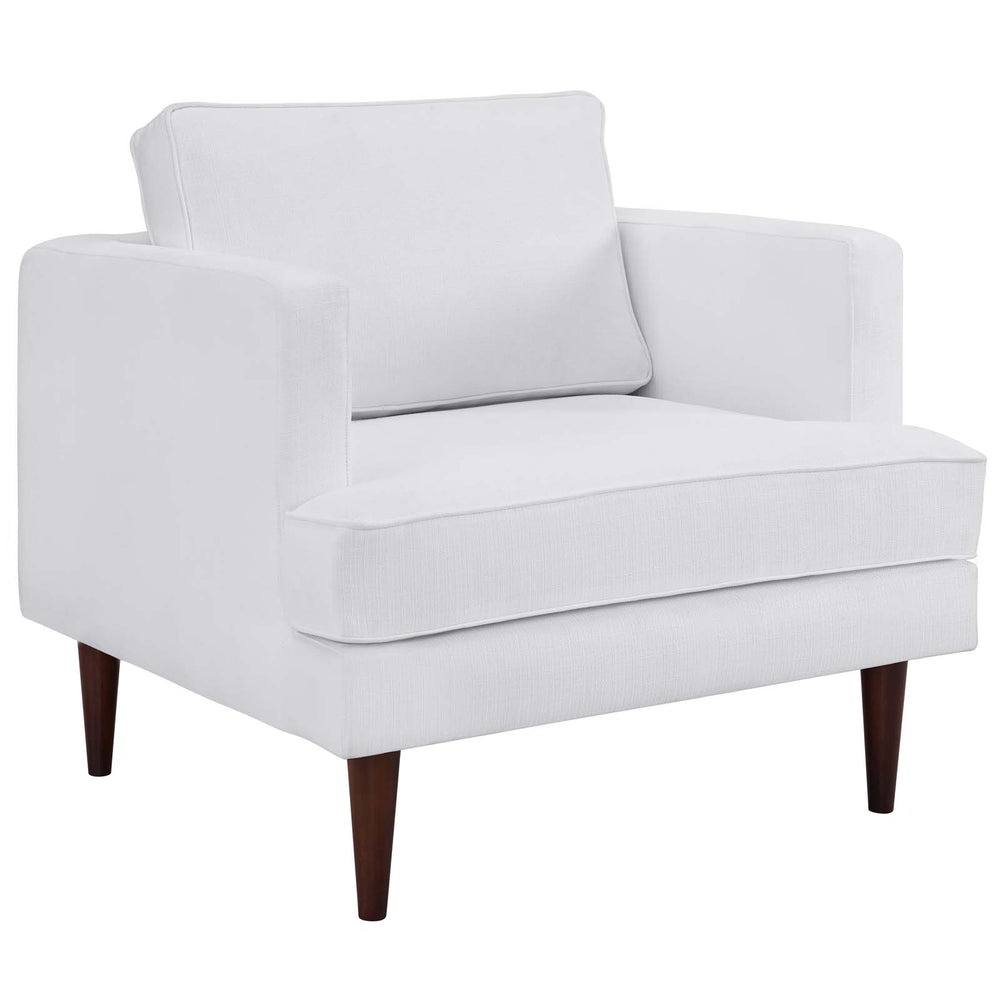 Modway Agile Upholstered Fabric Armchair in White