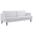 Modway Agile Upholstered Fabric Sofa in White