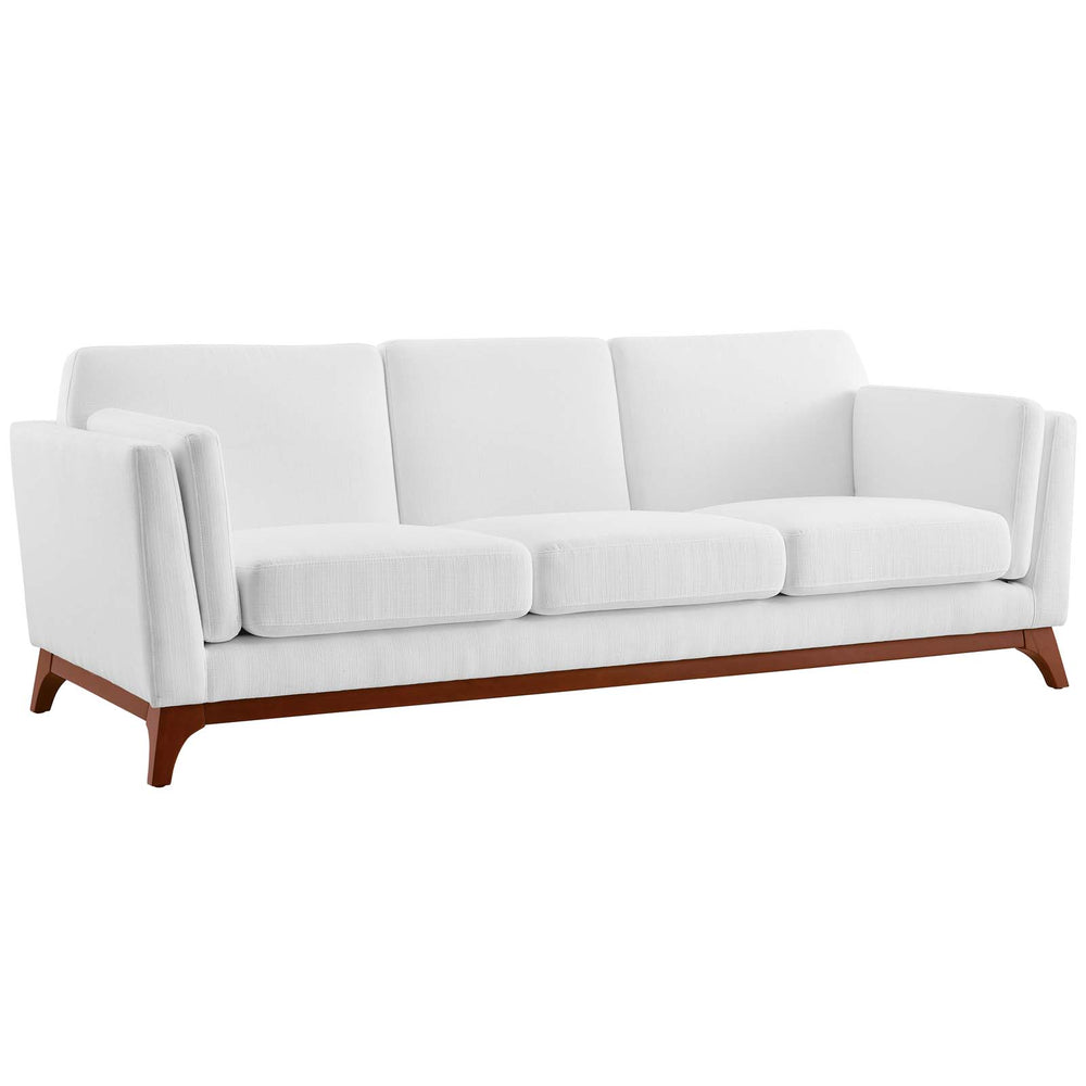 Modway Chance Upholstered Fabric Sofa in White