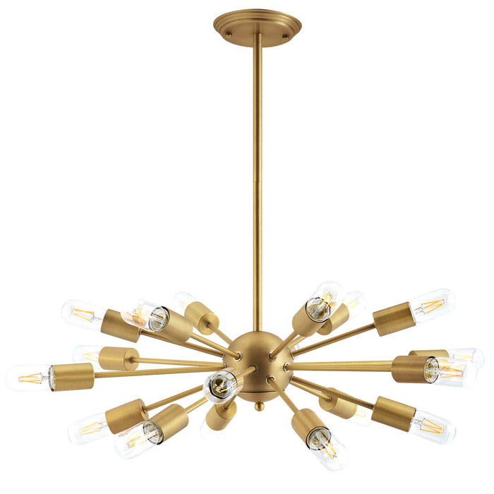 Modway Resolve Brass Pendant Chandelier in