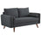 Modway Revive Upholstered Fabric Loveseat in Gray