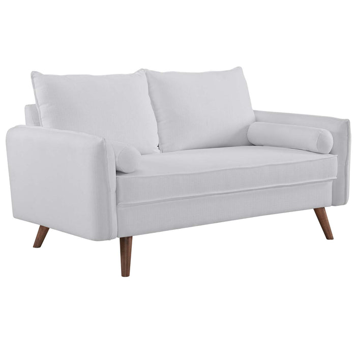 Modway Revive Upholstered Fabric Loveseat in White