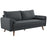 Modway Revive Upholstered Fabric Sofa in Gray