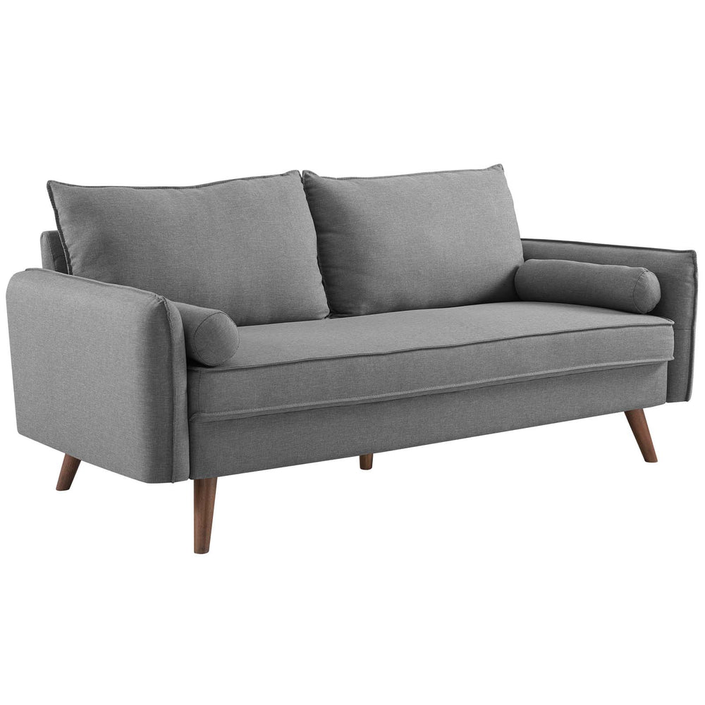 Modway Revive Upholstered Fabric Sofa in Light Gray