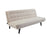 Modway Glance Tufted Convertible Fabric Sofa Bed in Beige