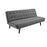 Modway Glance Tufted Convertible Fabric Sofa Bed in Gray
