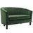 Modway Prospect Channel Tufted Upholstered Velvet Loveseat in Emerald
