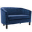 Modway Prospect Channel Tufted Upholstered Velvet Loveseat in Navy