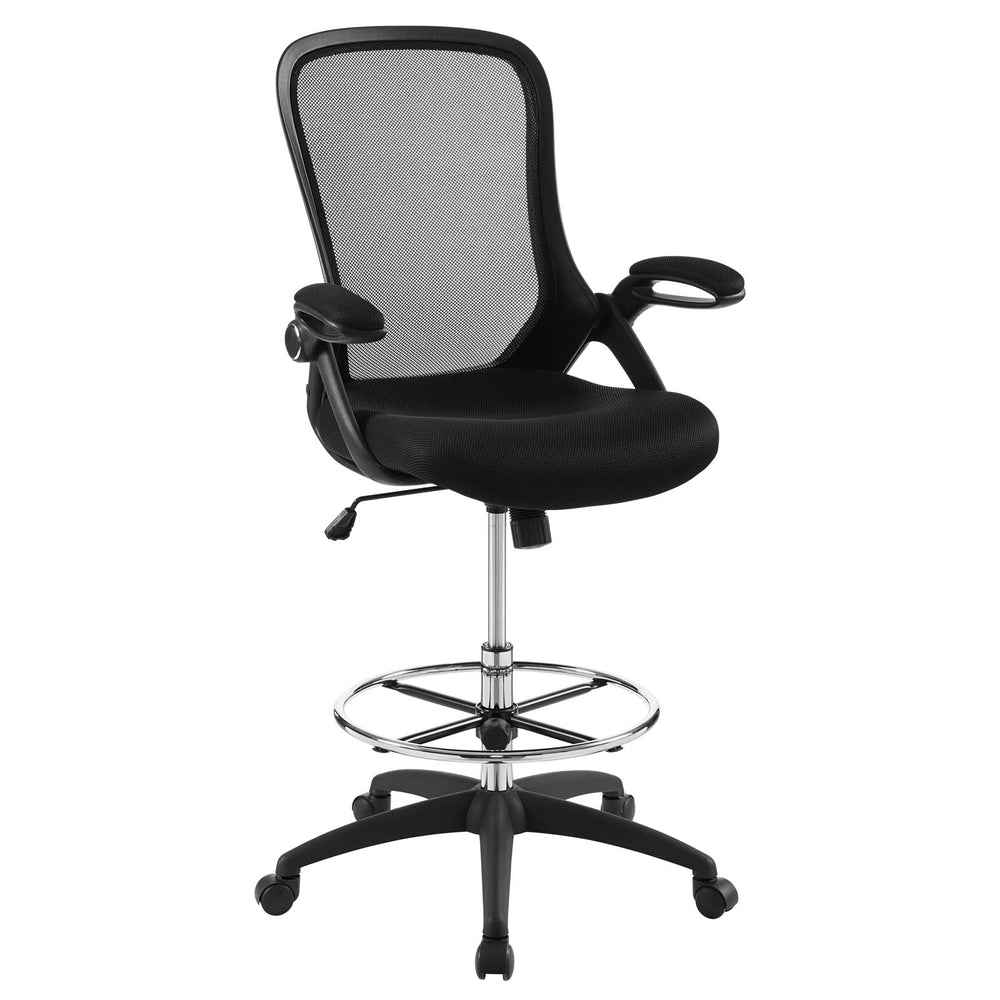 Modway Assert Mesh Drafting Chair in Black