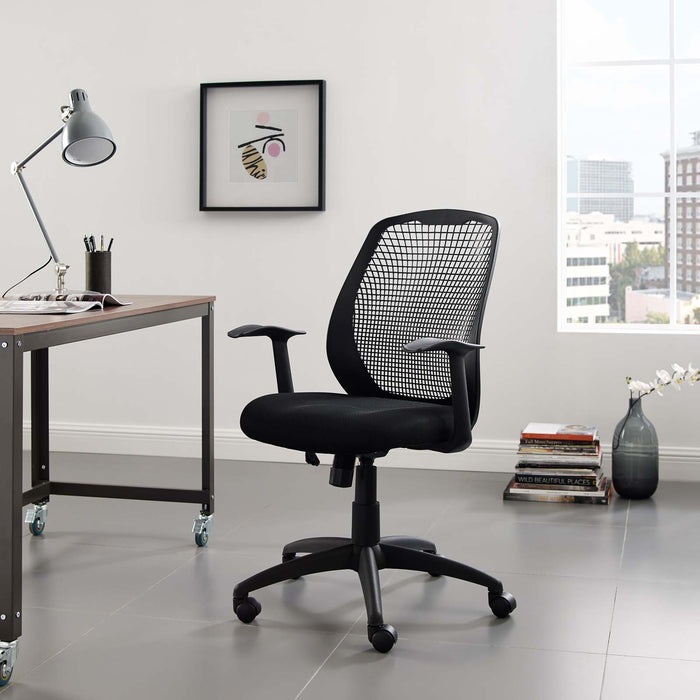 Modway Intrepid Mesh Office Chair in Black