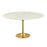 "Modway Lippa 60"" Round Dining Table in Gold White"