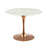 "Modway Lippa 40"" Round Dining Table in Rose White"
