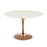 "Modway Lippa 47"" Round Dining Table in Rose White"
