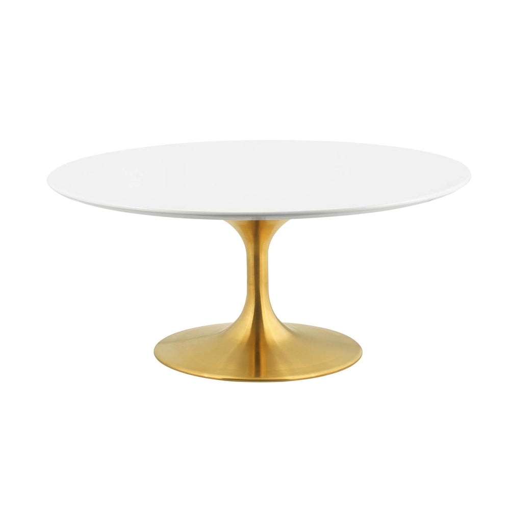 "Modway Lippa 36"" Coffee Table in Gold White"