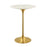 "Modway Lippa 28"" Bar Table in Gold White"