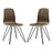 Modway Drift Dining Side Chair Set of 2 in Walnut