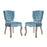 Modway Array Dining Side Chair Set of 2 in Sea Blue