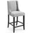 Modway Baron Upholstered Fabric Counter Stool in Light Gray