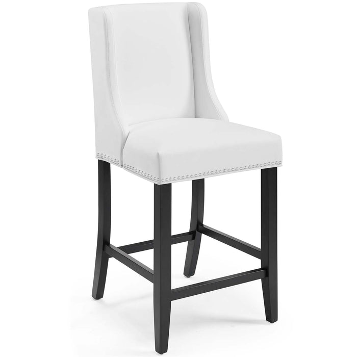 Modway Baron Faux Leather Counter Stool in White