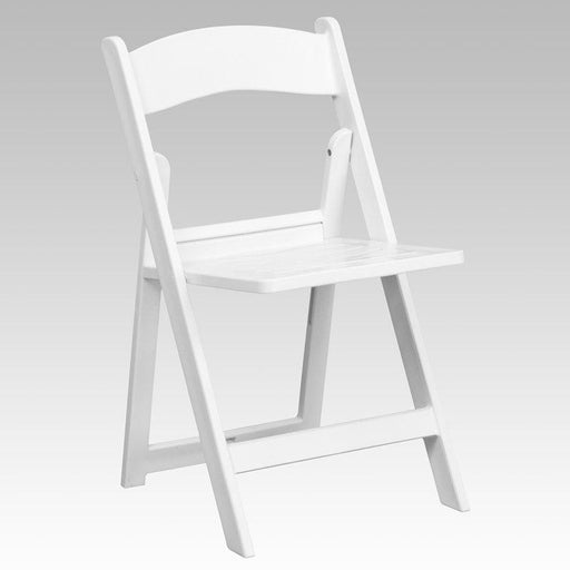 Flash Furniture LE-L-1-WH-SLAT-GG HERCULES Series 1000 lb. Capacity White Resin Folding Chair with Slatted Seat