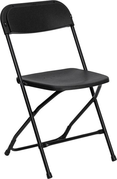Flash Furniture LE-L-3-BK-GG HERCULES Series 650 lb. Capacity Premium Black Plastic Folding Chair
