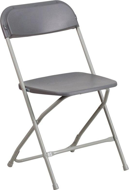 Flash Furniture LE-L-3-GREY-GG HERCULES Series 650 lb. Capacity Premium Grey Plastic Folding Chair