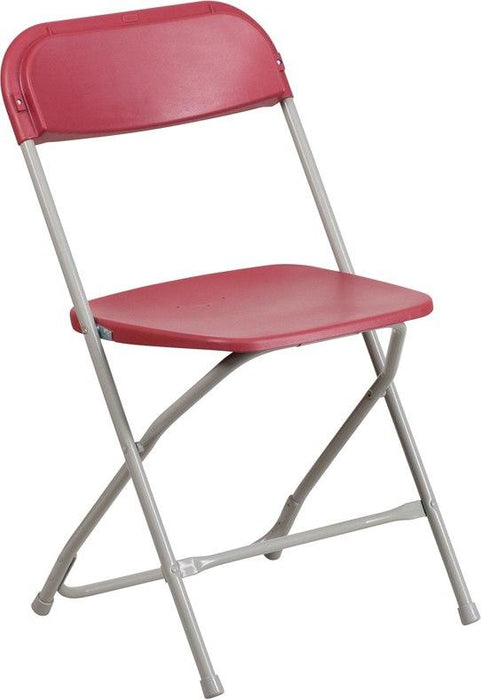 Flash Furniture LE-L-3-RED-GG HERCULES Series 650 lb. Capacity Premium Red Plastic Folding Chair