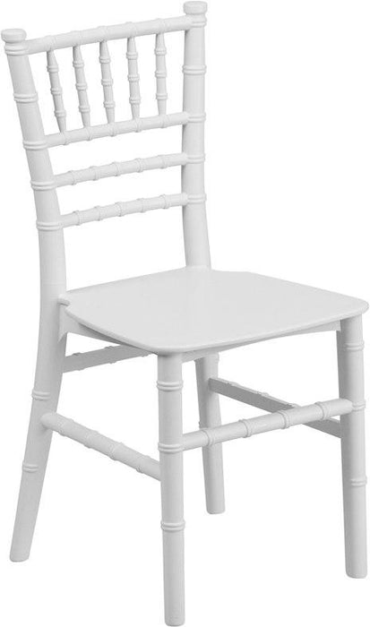 Flash Furniture LE-L-7K-WH-GG Kids White Resin Chiavari Chair