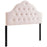 Modway Sovereign King Diamond Tufted Performance Velvet Headboard in Pink