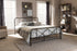 Wholesale interiors Beatrice Modern And Contemporary Stippled Black Finished Metal Queen Size Platform Bed TS-Beatrice-Black-Queen-Without-Gold
