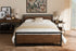 Wholesale interiors Gabby Vintage Industrial Black Finished Metal Full Size Platform Bed TS-Gabby-Black-Full