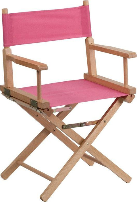 Flash Furniture TYD02-PK-GG Standard Height Directors Chair in Pink