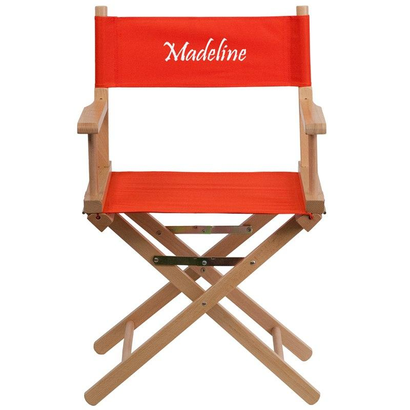 Flash Furniture TYD02-RD-EMB-GG Embroidered Standard Height Directors Chair in Red