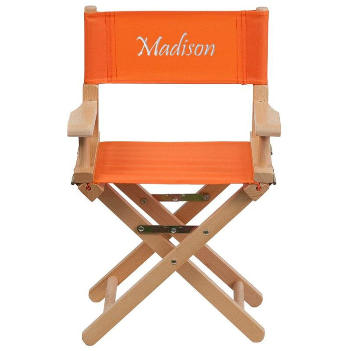 Flash Furniture TYD03-OR-EMB-GG Embroidered Kid Size Directors Chair in Orange