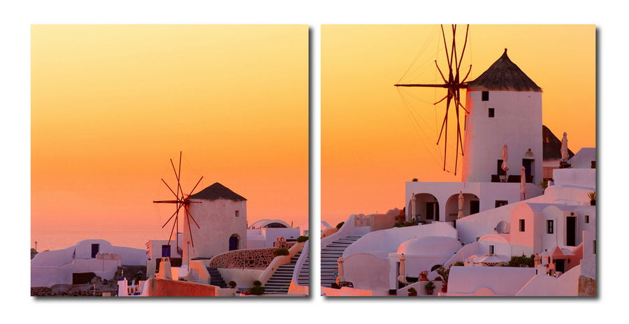 Wholesale interiors Grecian Crossroads Mounted Photography Print Diptych VC-2079AB