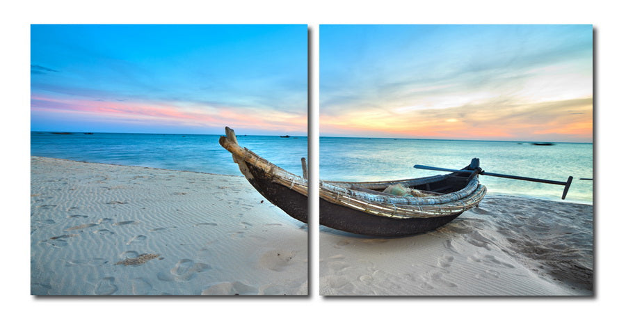 Wholesale interiors Awaiting Waters Mounted Photography Print Diptych VC-2094AB