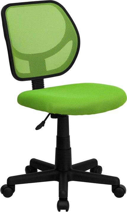 Flash Furniture WA-3074-GN-GG Mid-Back Green Mesh Swivel Task Chair