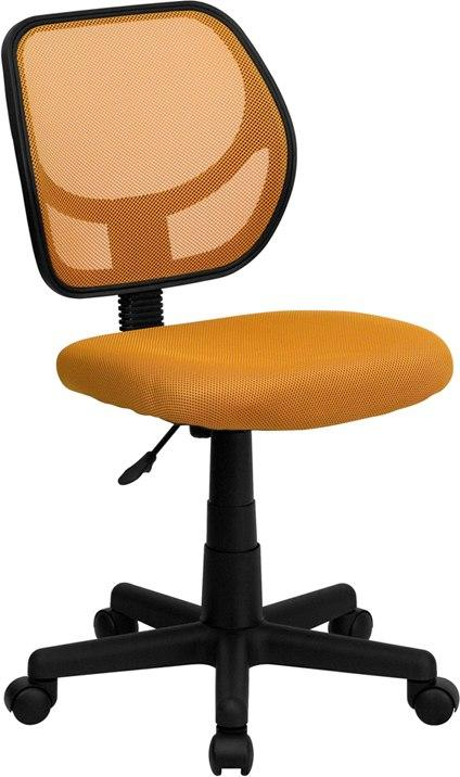 Flash Furniture WA-3074-OR-GG Mid-Back Orange Mesh Swivel Task Chair