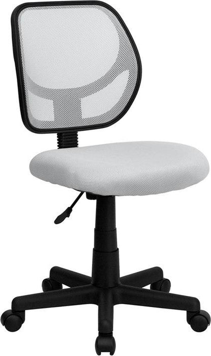 Flash Furniture WA-3074-WHT-GG Mid-Back White Mesh Swivel Task Chair