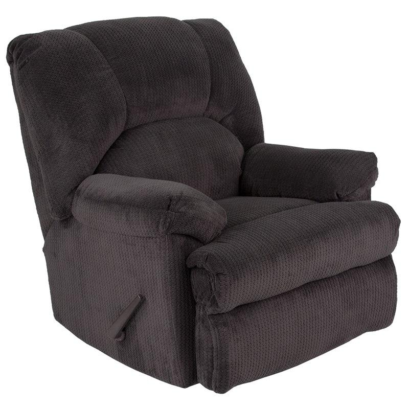 Flash Furniture WA-8500-270-GG Contemporary Feel Good Slate Microfiber Rocker Recliner