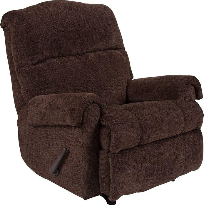 Flash Furniture WA-8700-118-GG Contemporary Kelly Chocolate Super Soft Microfiber Rocker Recliner