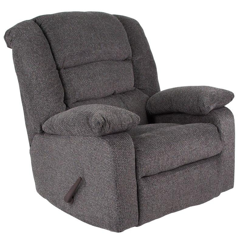 Flash Furniture WA-8810-499-GG Contemporary Super Soft Jesse Pepper Chenille Rocker Recliner